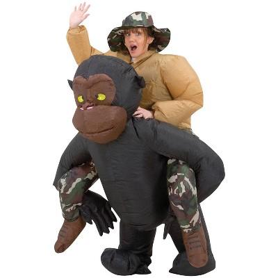 Adult Inflatable Riding Gorilla Costume