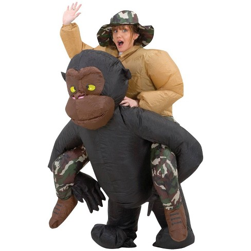 Adult Inflatable Riding Gorilla Costume - image 1 of 3