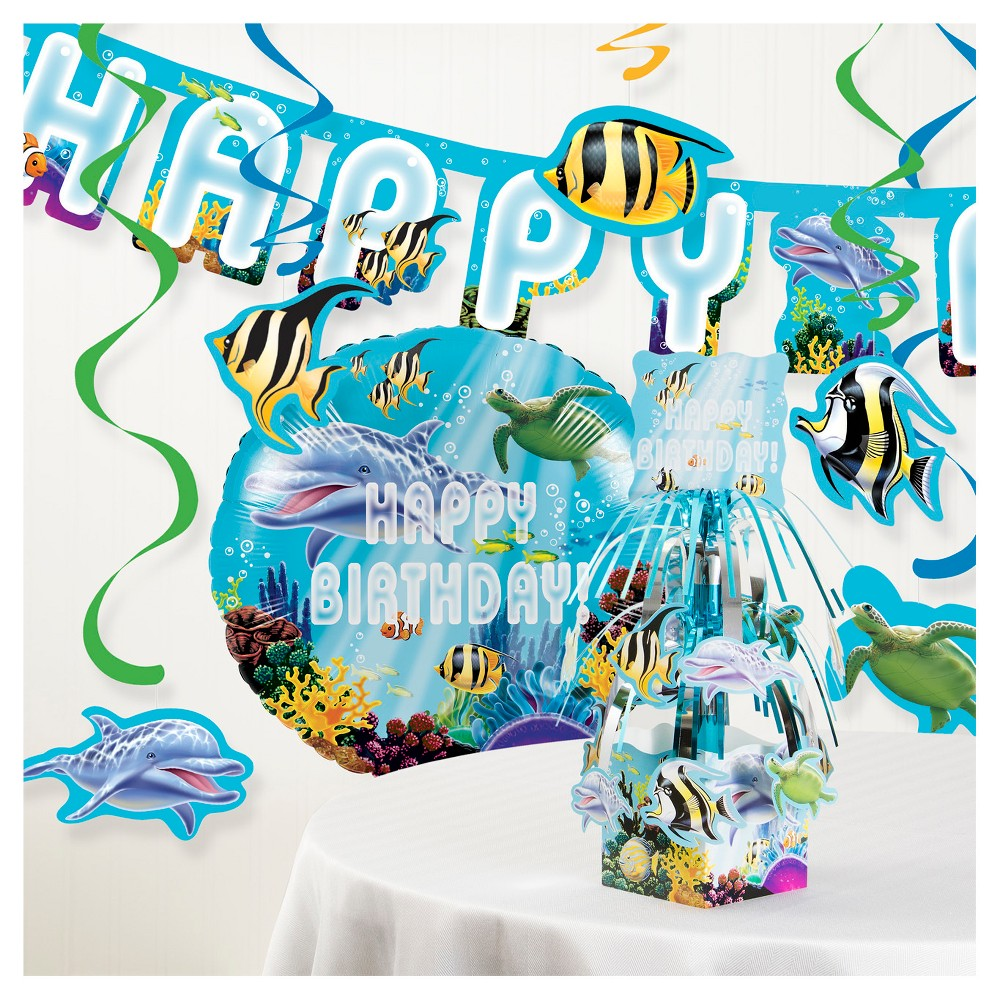 Image of Ocean Party Decorations Kit