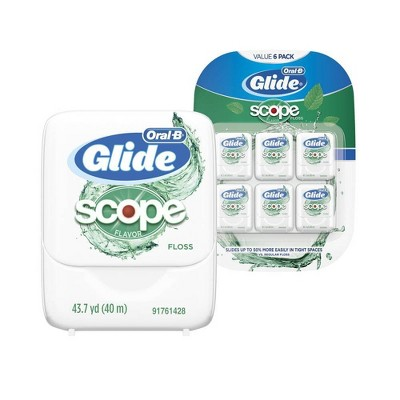 Oral-B Glide Floss with Scope Flavor - 40m/6pk