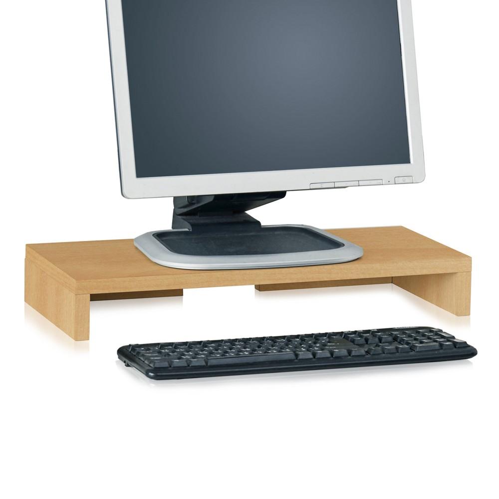 Image of Eco Friendly Monitor Stand Riser Natural - Way Basics