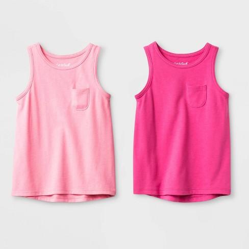 Toddler Girls' 2pk Wintex solid Tank Top Set - Cat & Jack™ Pink - image 1 of 1