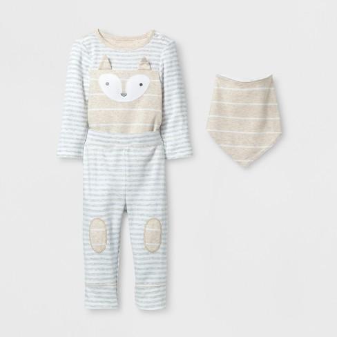 8c962bf3f Baby 3pc Fox Bodysuit