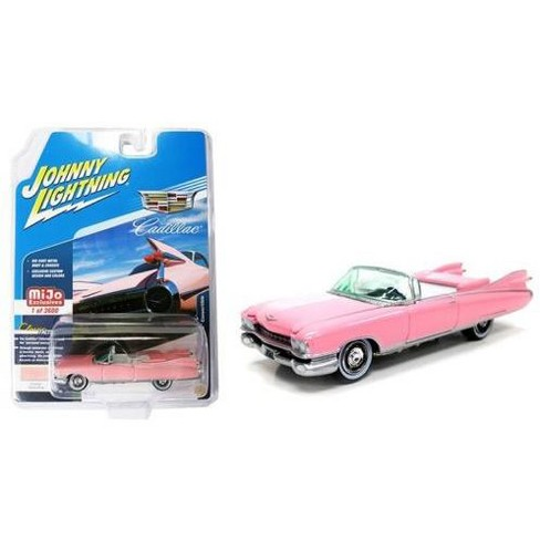 1959 Cadillac Eldorado Convertible Pink Limited Edition to 3600 pcs  Worldwide 1/64 Diecast Model Car by Johnny Lightning
