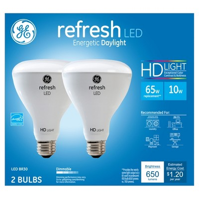 General Electric 65w 2pk Refresh Daylight Equivalent Br30 Floodlight LED HD