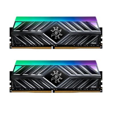 XPG SPECTRIX D41 RGB Desktop Memory: 16GB (2x8GB) DDR4 3200MHz CL16 Tungsten - 2pc