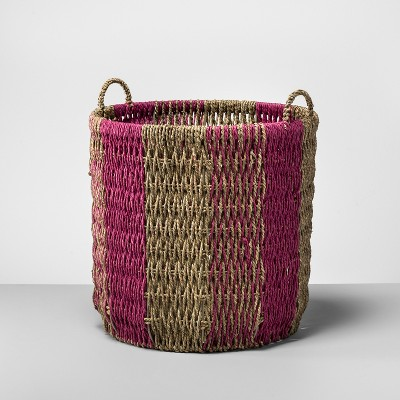 Seagrass Basket Large - Natural/Pink - Opalhouse™