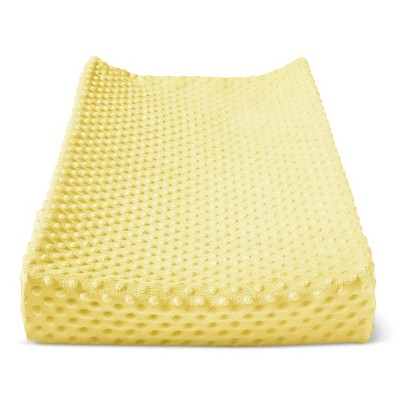 Plush Changing Pad Cover Solid - Cloud Island™ - Yellow