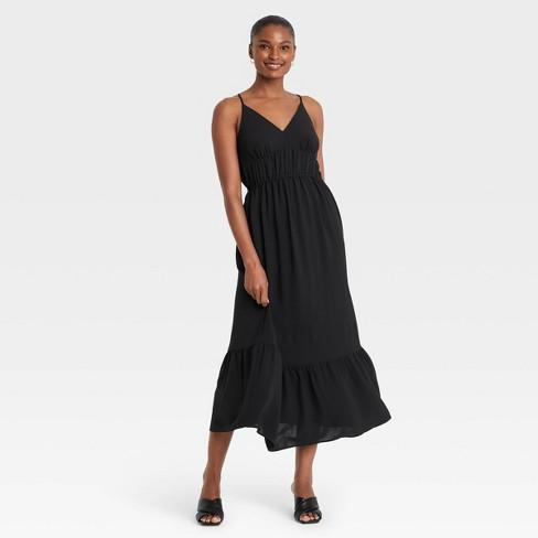 Women's Sleeveless Dress - Who What Wear™ Black - image 1 of 3