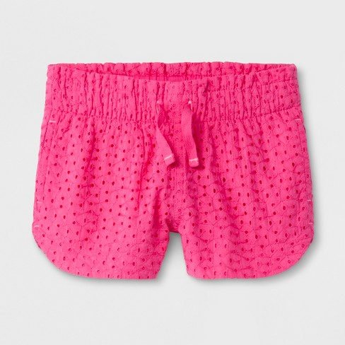 Toddler Girls' Fashion Shorts - Cat & Jack™ Pink - image 1 of 1