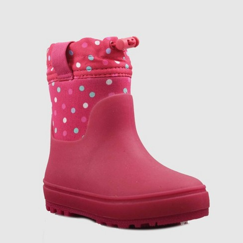 Toddler Girls' Jaren Winter Boots - Cat & Jack™ Pink - image 1 of 3