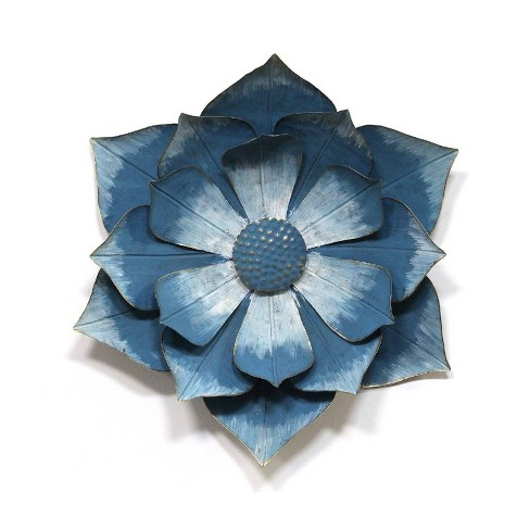 17 32 X 19 69 Ipomoea Metal Flower Blue Stratton Home Dcor Target