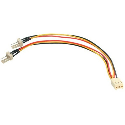 3 Pin Fan Splitter Y Cables 1 Female to 2 Male 2 Qty