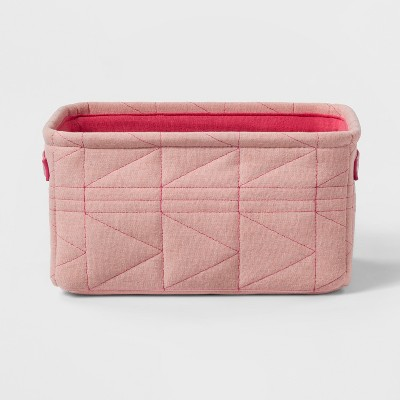 Small Quilted Toy Storage Bin Pink - Pillowfort™