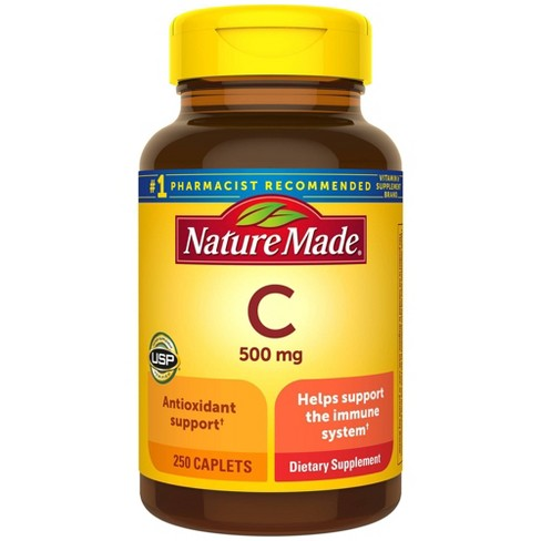 Nature Made Vitamin C 500 mg Caplets - 250ct - image 1 of 4