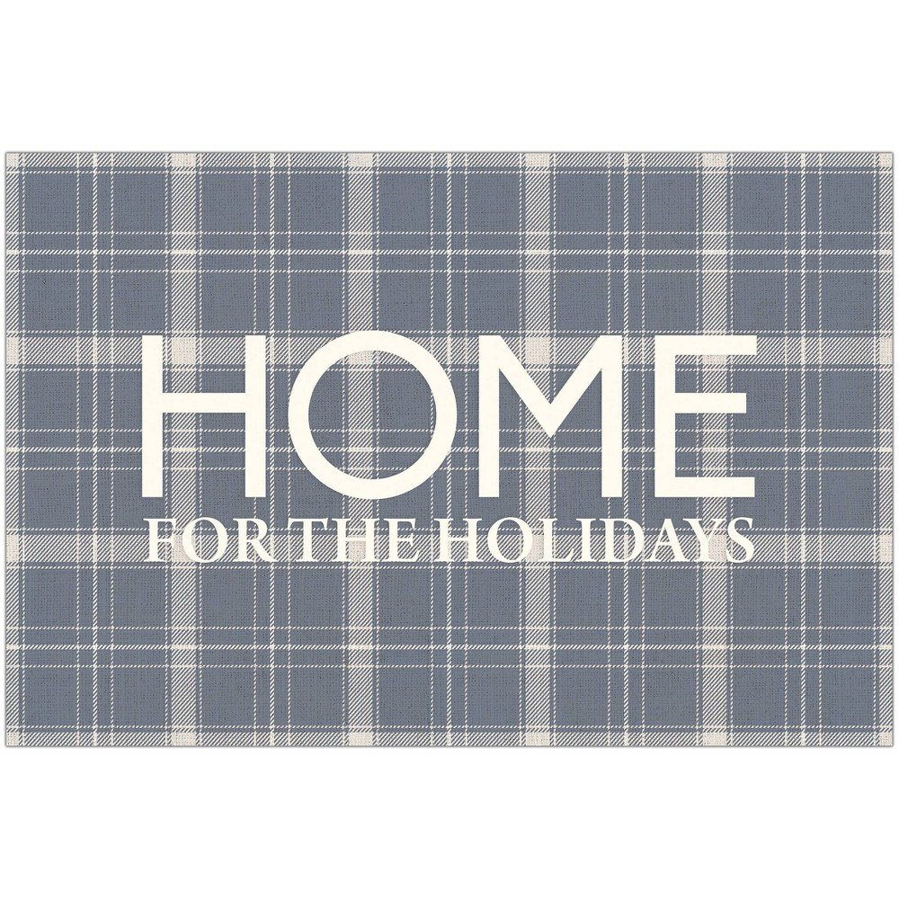 2 39 X3 39 Vinyl Home For The Holidays Mat Gray A 38 A Story