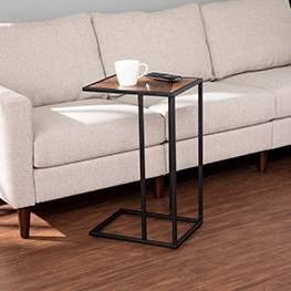 Bloxington Contemporary C Table Black - Aiden Lane