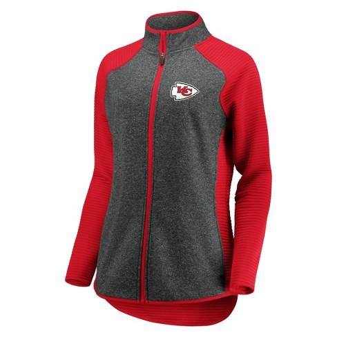 wholesale dealer 960bd 6c9cd NFL Kansas City Chiefs Women's Draft Leader Zip-Up Fleece Sweatshirt - Gray