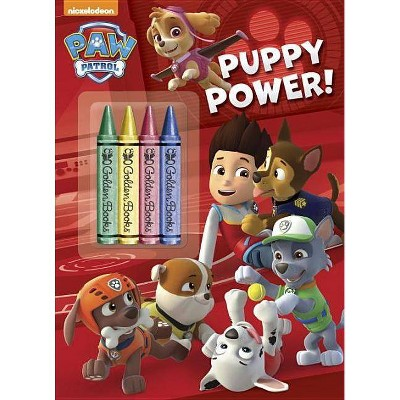 - Paw Patrol Puppy Power! Coloring Book With Crayons (Paperback) By Golden  Book : Target