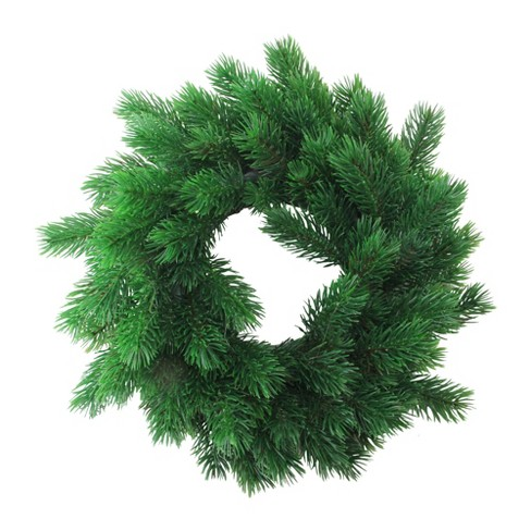 """Northlight 12"""" Unlit Green Pine Artificial Christmas Wreath - image 1 of 3"""