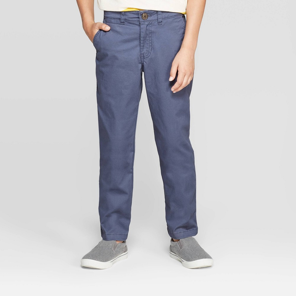 Image of Boys' Chino Pants - Cat & Jack Blue 10, Boy's