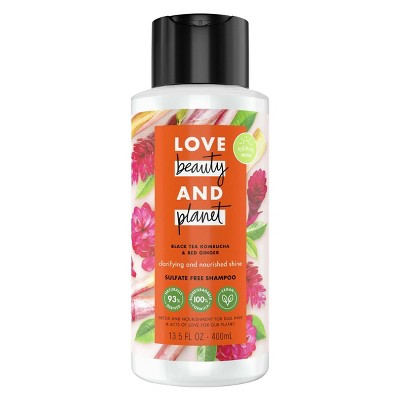 Love Beauty & Planet Black Tea Kombucha & Red Ginger Sulfate Free Shampoo - 13.5 fl oz