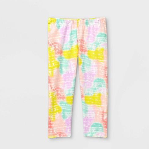 Girls' Tie-Dye Capri Leggings - Cat & Jack™ White - image 1 of 2
