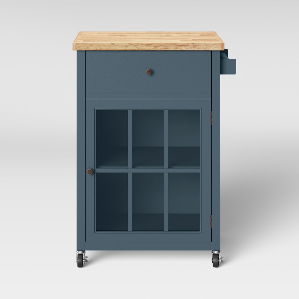 Windham Wood Top Kitchen Cart Overcast Gray - Threshold