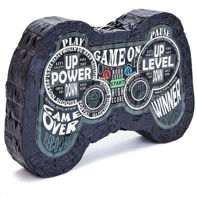 Small Video Game Controller Pinata for Birthday Gamer Party Decorations, 16.5 X 11 X 3 inches