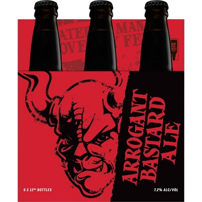 Stone Arrogant Bastard Ale Beer - 6pk/12 fl oz Bottles