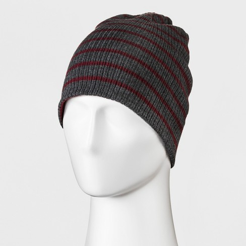 0afcf2ff126fa Men s Striped Rib Reversible Beanie - Goodfellow   Co™ One Size   Target