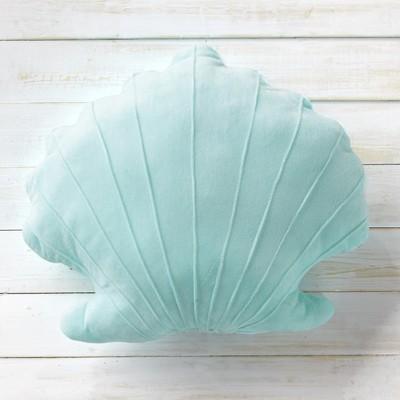 Lakeside Seashell Shape Plush Pillow - Coastal Bedroom Accent for Kids
