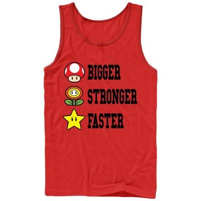 Men's Nintendo Mario Bigger Stronger Faster Tank Top