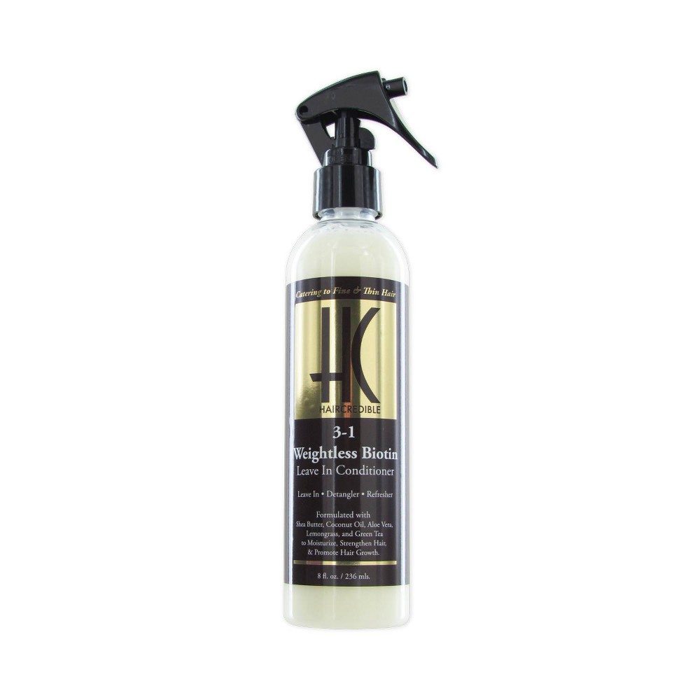 Image of Haircredible 3-In-1 Weightless Biotin Leave-In Hair Conditioner - 8 fl oz