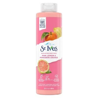 St. Ives Pink Lemon & Mandarin Orange Plant-Based Natural Body Wash Soap - 22  fl oz