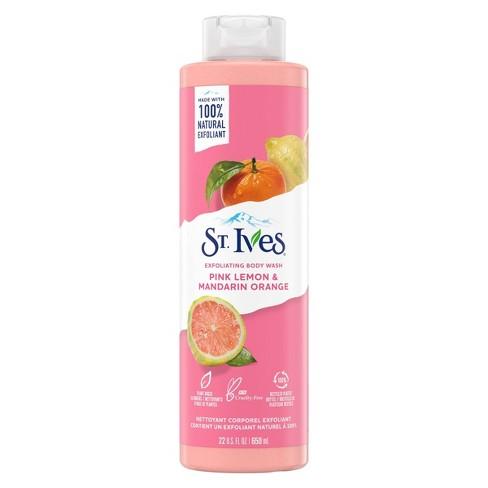 St. Ives Pink Lemon & Mandarin Orange Plant-Based Natural Body Wash Soap - 22  fl oz - image 1 of 4