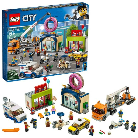 LEGO City Donut Shop Opening 60233 Store Opening Build and Play with Toy Vehicles and City Minifigures image number null