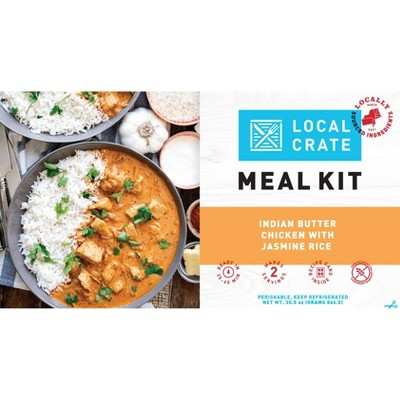 Local Crate Indian Butter Chicken with Jasmine Rice Meal Kit - Serves 2 - 30.5oz