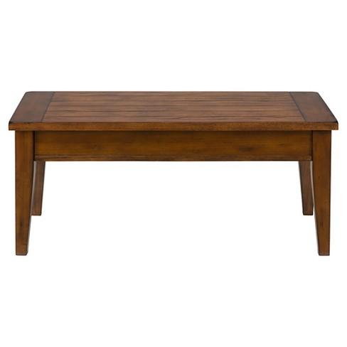 Dunbar Lift Top Tail Table Medium Brown Jofran Inc