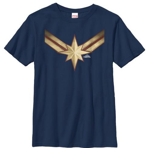 Boy's Marvel Captain Marvel Star Symbol Costume T-Shirt - image 1 of 1