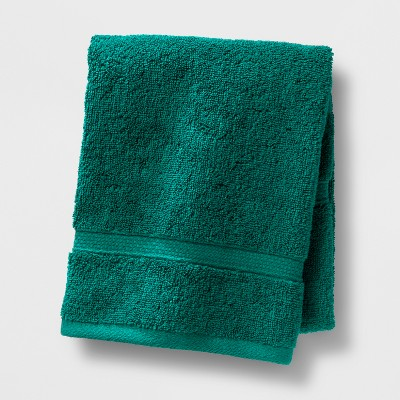 Soft Solid Hand Towel Dark Green - Opalhouse™