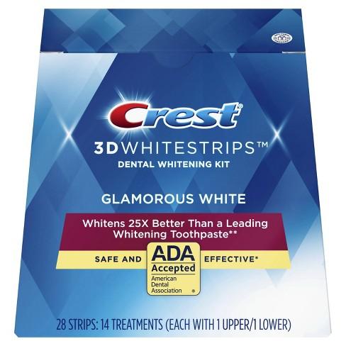 Crest 3D Whitestrips Glamorous White Teeth Whitening Kit - 14 Treatments - image 1 of 4