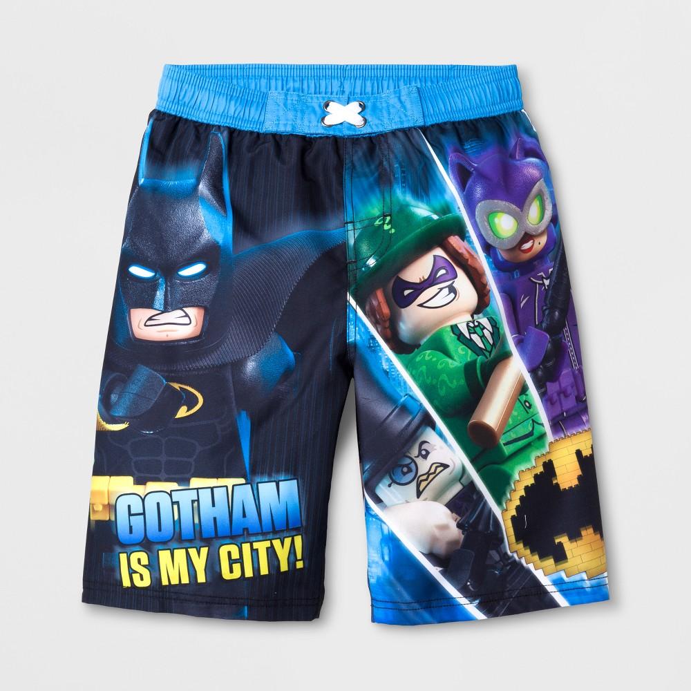 Boys' Lego Batman Swim Trunks - Blue L