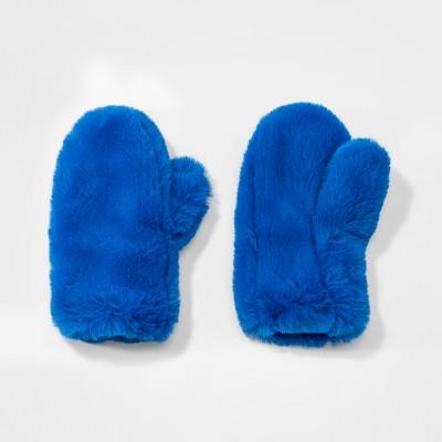 893e88b4ed47 Girls  Faux Fur Mittens - Cat   Jack™ Purple One Size   Target