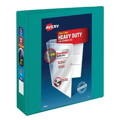 "Avery 2"" One Touch EZD Rings 540 Sheet Capacity Heavy Duty View Binder - Green"