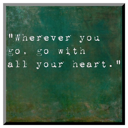 Art.com Decorative Wall Panel Inspirational Quote By Confucius - Green - image 1 of 1