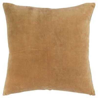 """22""""x22"""" Oversize Square Throw Pillow Cover Gold - Rizzy Home"""