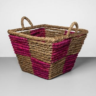 "Decorative Basket Natural Purple 15.35""x17"" - Opalhouse™"