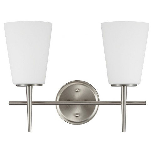 Sea Gull Lighting Driscoll Two Light Bath Vanity - Brushed Nickel - image 1 of 2