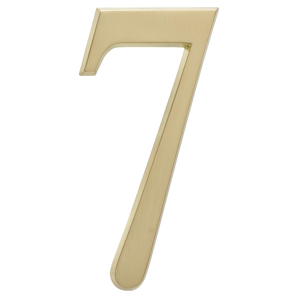 "Image of ""4.75"""" House Number 7 - Satin Brass - Whitehall Products"""